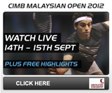 PSA Squash TV - CIMB Malaysian Open 2012