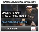 PSA Squash TV - CIMB Malaysian Open 2012