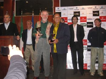 Keith receiving trophy O60's Argentina Masters