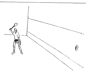 Forehand Drive into target