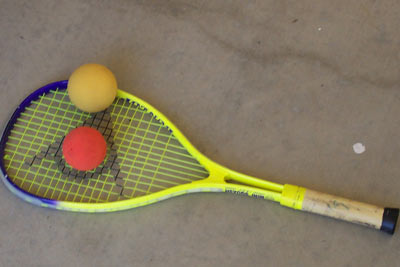 Modified Rackets and Balls