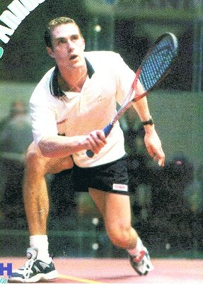David Palmer Forehand Footwork - eyes looking upwards