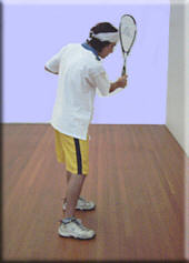 backhand preparation/backswing